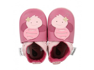 Bobux Soft sole Bright Pink Bee