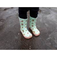 Bundgaard Classic Rubber Boot Mint Flowers