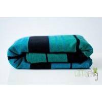 Woven wrap with merino - Chrysocolla L (4,6 m)