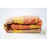 Woven wrap with merino - Citrine L (4,6 m)