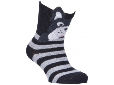 Babysock - Bulldog w/Ears Black
