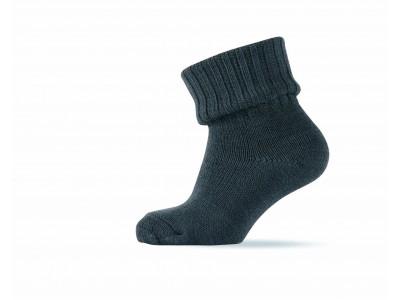 Basic Sock - Wool w/Rib Shaft - Light grey