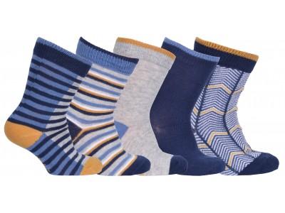 Numbers 5-pack Socks - BOYS - Marine