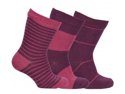 Numbers 3-pack Socks - STRIPES - Fig