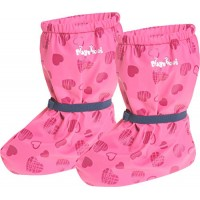 Playshoes Rain Footies with Fleece Lining Hearts