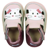 "Tikki sandals - ""Meow"" kitty"