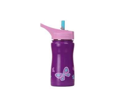 FROST Kids TriMax Insulated Water Bottle with Flip Straw top - 400 ml
