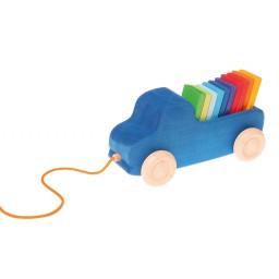 Järelveetav sinine veoauto