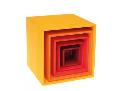 Väike karpide komplekt, kollane