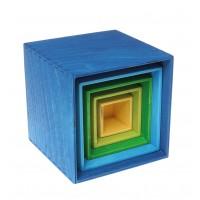 Väike karpide komplekt, sinine
