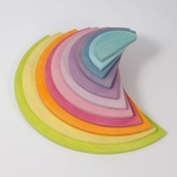 Large Semicircles, pastel, 11 pieces