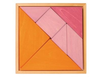 Tangram, oranž-roosa