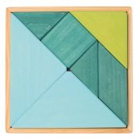 Tangram, sinine-roheline