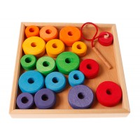 Thread Game in a wooden Frame