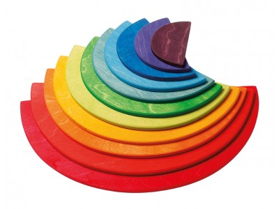 Large Semicircles, rainbowcolours, 11 pieces