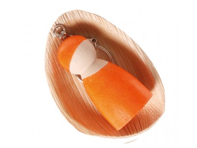 Peg Doll on a Chain, orange