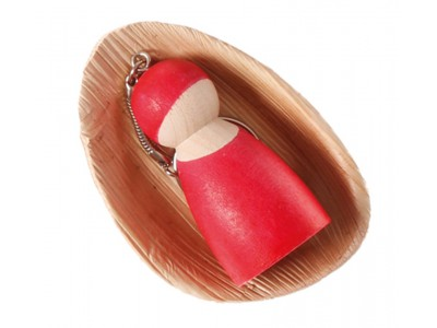 Peg Doll on a Chain, red