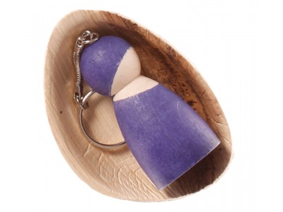 Peg Doll on a Chain, purple