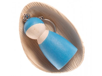 Peg Doll on a Chain, blue