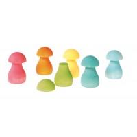 Sorting Game Rainbow Mushrooms, pastel