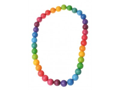 Rainbow Necklace, beads 20mm, 66cm