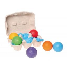 6 Wooden Balls