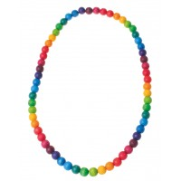 Rainbow Necklace, beads 12mm, 66cm
