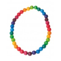 Rainbow Necklace, beads 12mm, 40cm