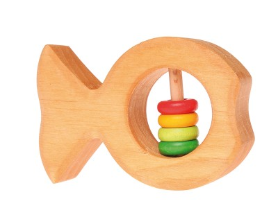 Rattle fish with coloured discs