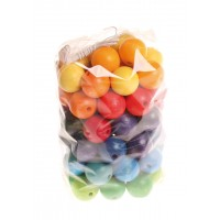 60 Coloured Beads, 20mm