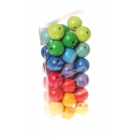 36 Coloured Beads, 30mm
