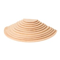 Large Semicircles, natural, 11 pieces