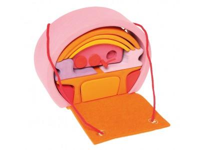 Mobile Home, pink-orange