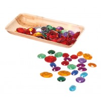 100 Acrylic Glitter Stones