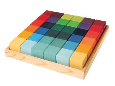 Square, 36 Cubes
