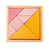Creative Set Tangram, incl. Templates, orange-pink