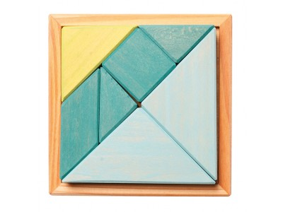 Creative Set Tangram, incl. Templates, blue-green