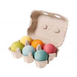6 Wooden Balls, pastel