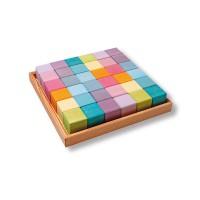 Square, 36 Cubes, pastel