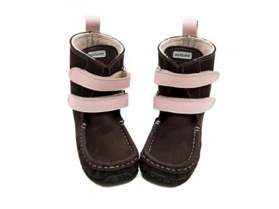 YETI Brown-pink in waterproof leather - 6mm tald - Lai