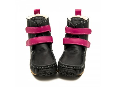 YETI Black with fuchsia in waterproof leather - 9mm tald - Lai